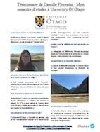Temoignage Camille University of Otago