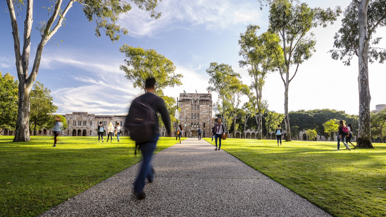 Students in the Great Court