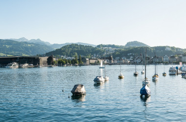 Switzerland Cities: Luzern, Stadtpanorama