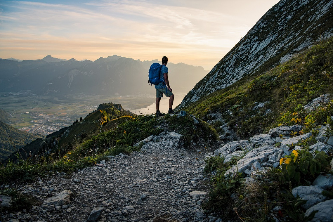 Switzerland Summer: Rocher de Naye, Wanderer