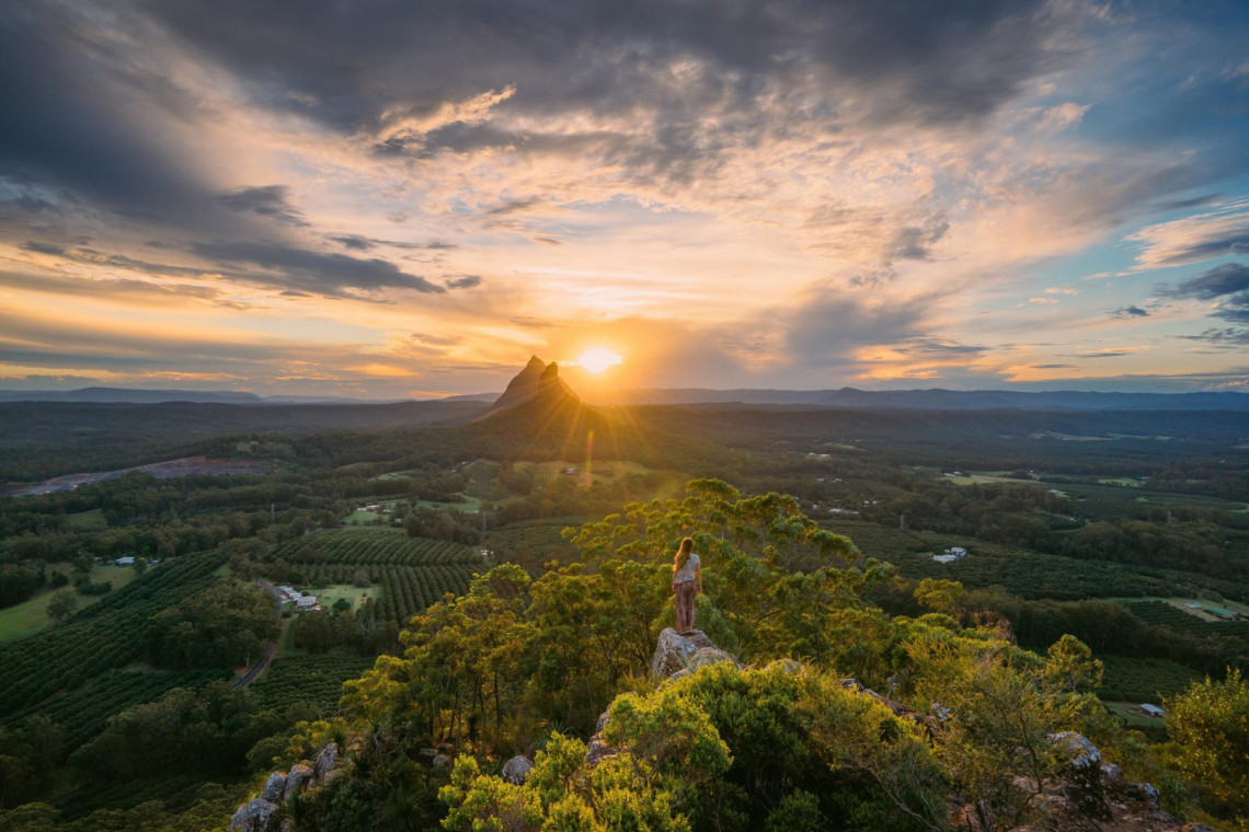 Glass House Mountains, Mary Cairncross Lookout, QLD